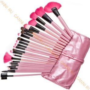 Кисти для макияжа 24 штуки, набор. Розовый