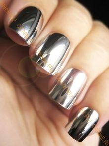 Наклейки для ногтей. Серебряные.