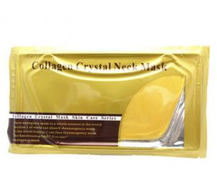 Маска для кожи шеи с коллагеном и биозолотом crystal collagen neck bag mask
