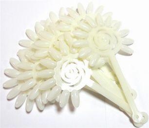Дисплей-веер для образцов ромашка белый
