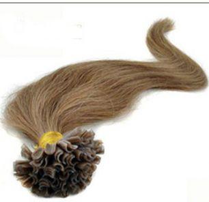 Натуральные волосы на кератиновой капсуле U-тип, №008 Темно русый - 50 см, 100 капсул.