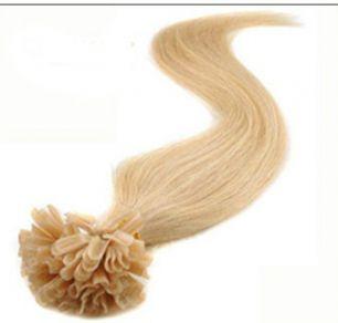 Натуральные волосы на кератиновой капсуле U-тип, №024 Пепельный блонд - 50 см, 100 капсул.