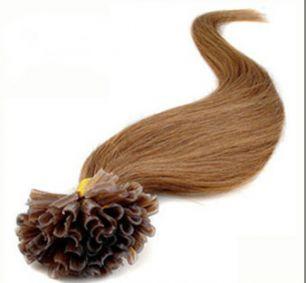 Натуральные волосы на кератиновой капсуле U-тип, №016 Русый с золотистым оттенком - 50 см, 100 капсул.