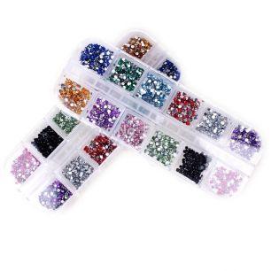 Стразы для ногтей Case. 12 цветов, 2 мм.