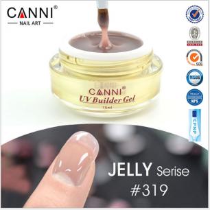 Моделирующий гель-желе камуфляж Canni №319 UV Builder Gel Jelly