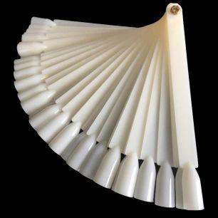 Дисплей-веер для образцов №1 белый, 50 шт.