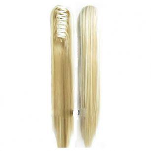 Искусственные термостойкие волосы на зажиме прямые №F024/613 (55 см) -  150 гр.