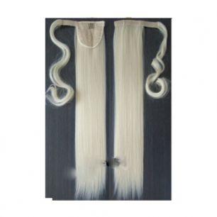 Искусственные термостойкие волосы - хвост прямые №613 (55 см) -  90 гр.