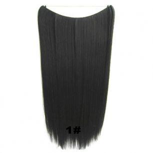 Искусственные термостойкие волосы на леске прямые №001 (60 см) - 100 гр.