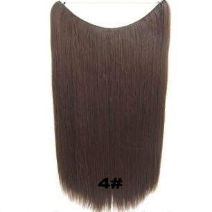 Искусственные термостойкие волосы на леске прямые №004 (60 см) - 100 гр.