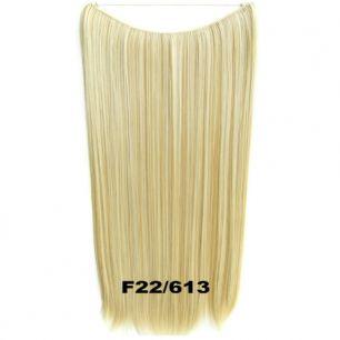 Искусственные термостойкие волосы на леске прямые №F022/613 (60 см) - 100 гр.